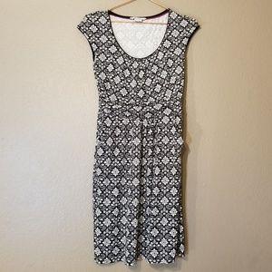 Boden Black and White Geometric Print Dress